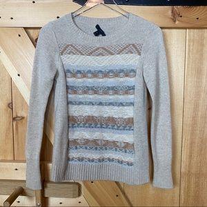 j. crew | cream fair isle wool sweater